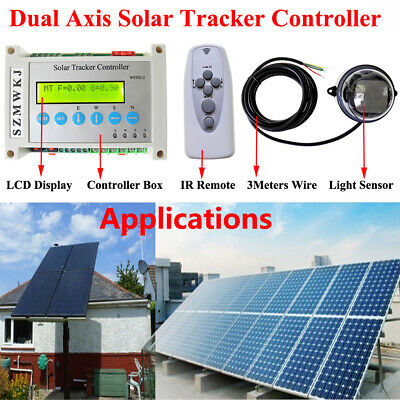 Complete Dual Axis Electronic Sun Track Solar Tracker Linear Actuator Controller