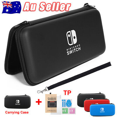 Carrying Case Storage Cover Shell+Tempered Screen Glass for Nintendo Switch esm
