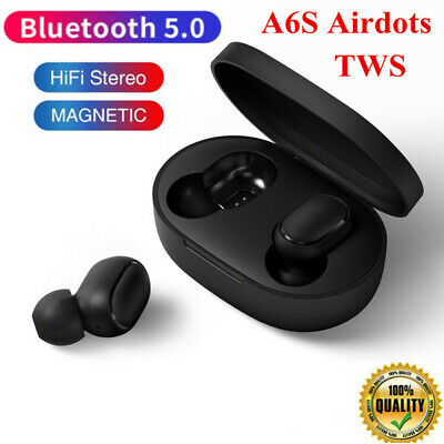 per iPhone Samsung Xiaomi TWS Airdots cuffie A6S wireless Bluetooth Auricolari