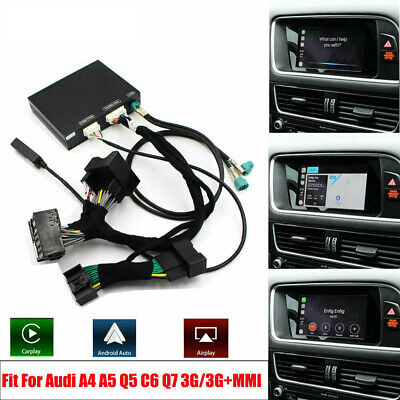 Haobo Fit For Audi A4 A5 Q5 MMI Wired CarPlay Android Auto Retrofit Box Kit