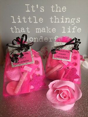 Luxury Pink Girls Pamper Sleepover Spa Indulgence Party Prefilled Loot Bags Tag