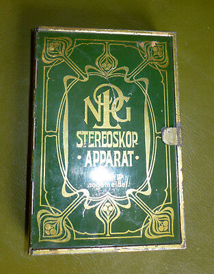 NPG Stereobetrachter STEREOSKOP-APPARAT OPTIMUS  in Buchform für 6x13cm Stereos