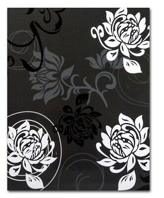 "Large Black Slip In Photo Album 300 6"" x 4"" Photos Memo Area Flowers Home Gift"