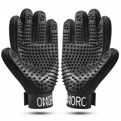 OMORC A Pair of Pet Grooming Glove, Fur Remover and Relaxing Massage for...