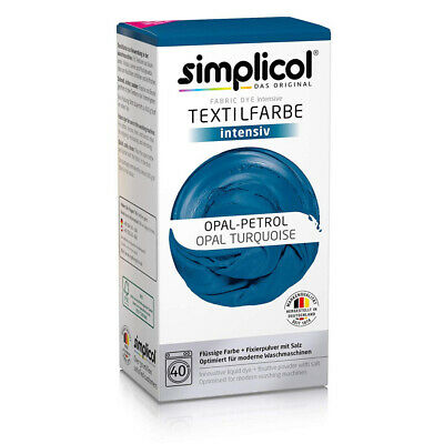 Simplicol Fabric Dye Intensive Opal turquoise: 1 Pack, Turquoise 1811