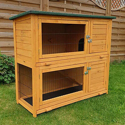 FeelGoodUK Rabbit Hutch and Cover with Rain