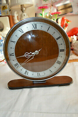 1930s  Smiths Art Deco style Electric Mantel Clock Good Working Order