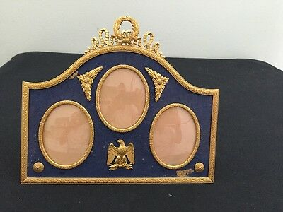 Antique French Napoleon Empire Bronze Picture Frame