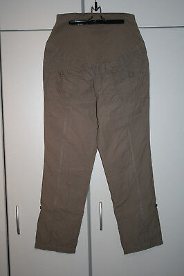 Gr 40 Modische Umstandsmoden Chino Hose in Bordeaux M262-933235