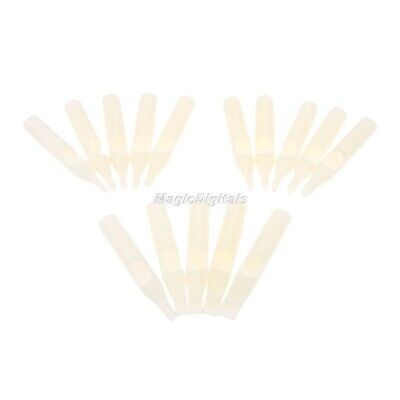 75x Assorted Disposable Sterile Tattoo Tip Tube Nozzle Round White Tattoo Supply