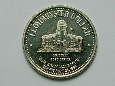 Lloydminster CANADA 1984 Trade DOLLAR Token with Historic Post Office Building
