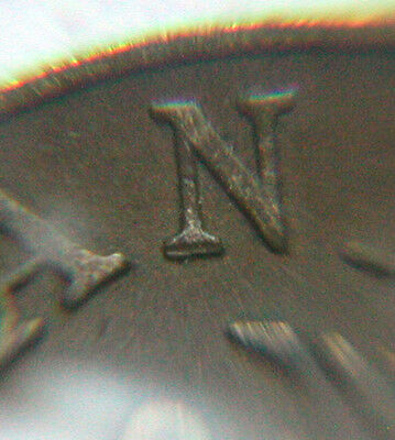 Canada 1935 ONE CENT (1¢) King George V Coin Foot of N in CANADA Doubled Variety