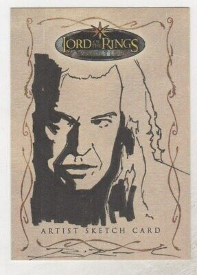 Lord of the Rings Evolution Brian Rood 1/1 Sketch Card Denethor