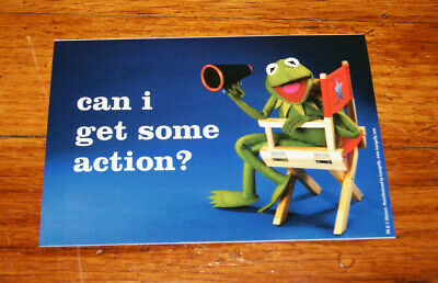 """Kermit the Frog MUPPET SHOW """"Can I Get Some Action?"""" Vinyl Sticker 4.2"""" x 3.25"""""""