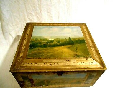 Vintage Beech-Nut Biscuit Advertising Tin Box 13 x 11 Mohawk Valley NY