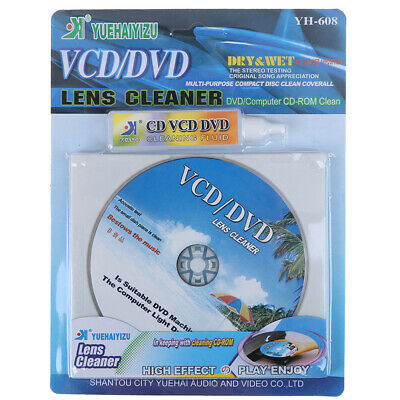DVD VCD Player Laser Head Lens Cleaner Dry&Wet Disc Cleaning Kit RepairH NT