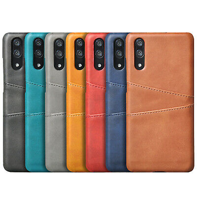 For iPhone X XR XS Max 8 Luxury PU Leather Skin With Card Holder Back Cover Case