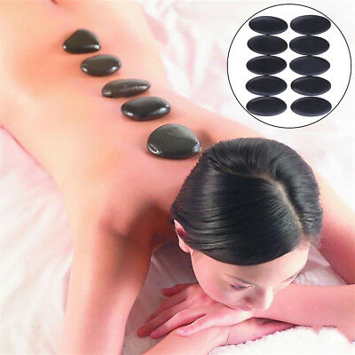 Massage Stones Natural Lava Basalt Hot Stone for Spa body pain relief 3*6cm TK