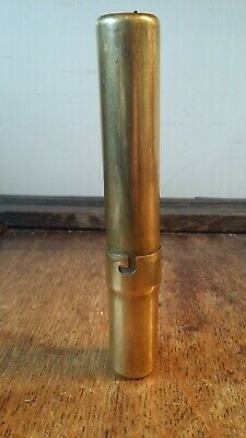 Antique Victorian Brass Candle Holder - Spring Loaded Automatic - Good Condition