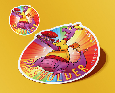 "4"" Disney World Annual Passholder 2019 Figment Car Magnet + FREE matching GIFT!"