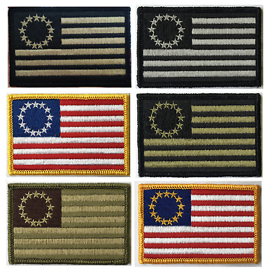 BuckUp Tactical Morale Patch Hook Betsy Ross Patches 3x2""