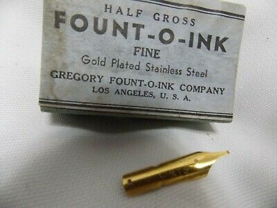 NIBs 72 pcs gold plated very old pre WW1