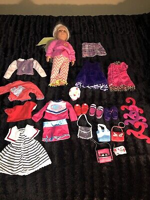 Lot Of 25 Doll Clothes Outfits Shoes Purses Our Generation /American Girl Battat