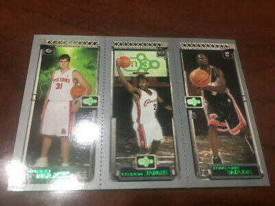 LeBron James / Dwyane Wade / Darko Milicic 2004 Topps M3 RC Rookie Card