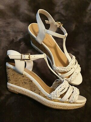 New look 915 generation white Sandals Wedges size 5 38 Girls Teens