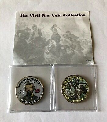 Civil War Colorized Half-Dollars Battle of Fort Donelson/Nathan B. Forrest MC027
