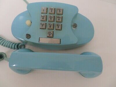 Antique Western Electric Telephone Aqua 10 button Princess 1713 2 line  RARE