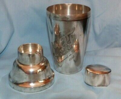 "Meriden Silver Plate Co. Quadruple Plate Cocktail Shaker 7 1/2"" Tall"
