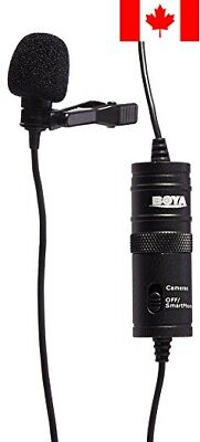"BOYA by-M1 3.5mm Electret Condenser Microphone with 1/4"" Adapter for Smartpho..."