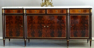 Antique Vintage  French Louis XVI Sideboard TV Stand Buffet Marble top