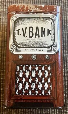 "Vintage Tin Television Bank "" WQAL FM Stereo 104"""