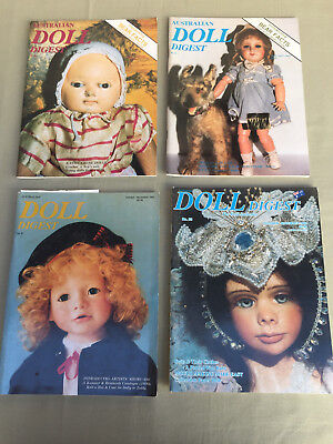 AUSTRALIAN DOLL DIGEST 4 Magazines No. 45, 46, 47, 53 with Paper Doll Cut Outs
