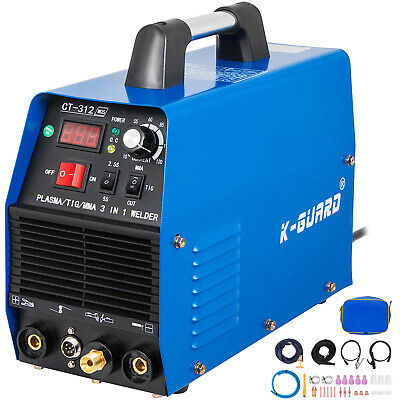 CT312 3 In 1 Functional Plasma Cutter/TIG/MMA 30A/120A Welder & Accessories