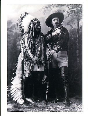Postcard From A 1895 Photograph Chief Sitting Bull And Buffalo Bill