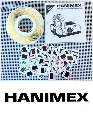 HANIMEX Rotary 120 Slide Magazine with 90 Slides