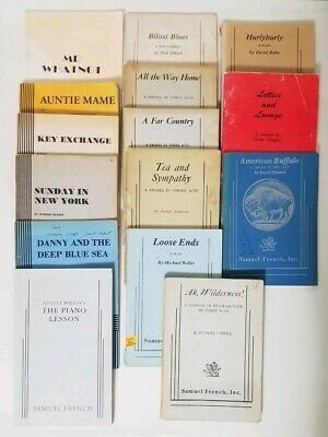 LOT 30 SAMUEL French Play RARE Vintage Early Edition Scripts Acting