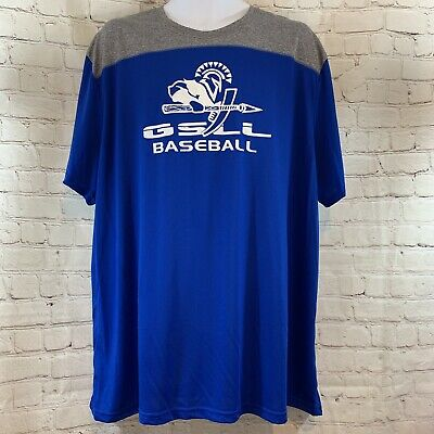 Men's Augusta Sportswear Sz XXL Short Sleeve Baseball Moisture Wicking T-shirt
