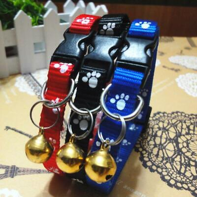 Lovely Small Footprint with Bell Pet Collar Nylon Fabric Kitten Dog Puppy