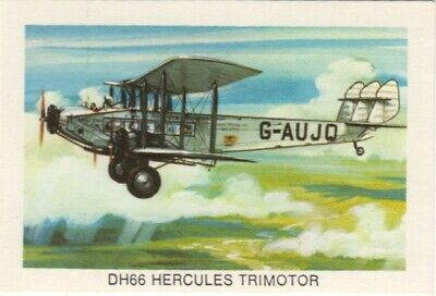 Tip Top Bread - Great Sunblest Air Race Cards.DH66 Hercules Trimotor (different