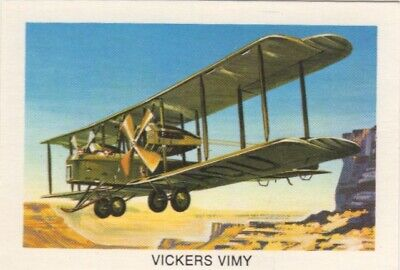 Tip Top Bread - Great Sunblest Air Race Cards.Vickers Vimy (different)