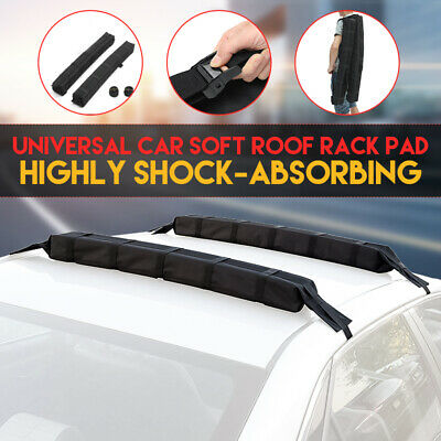 Universal Car Soft Roof Rack Bar Pad Car Kayak Surfboard Luggage Carrier 82.5cm