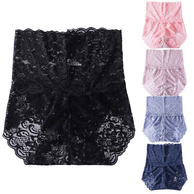 Women's Underwear Sexy Sense of High-Waist Lace knickers Pure Cotton Underpants