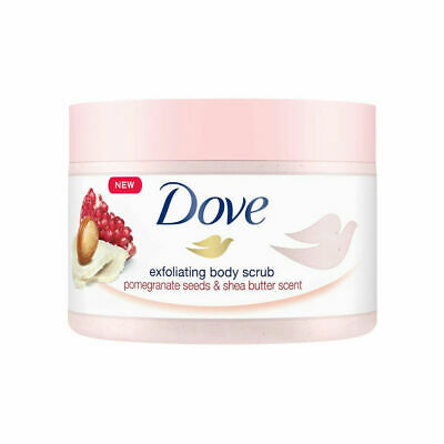 2 x Dove Exfoliating Body Scrub Pomegranate Seeds 225ml PREPARE Fake Tan HOLIDAY