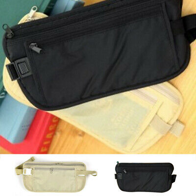 Travel Money Belt Hidden Waist Security Wallet Bag Passport Pouch RFID Holder