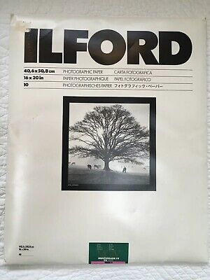 "ILFORD MULTIGRADE IV FB FIBER BASE 16""X20"" PAPER Unopened Package Of 10"