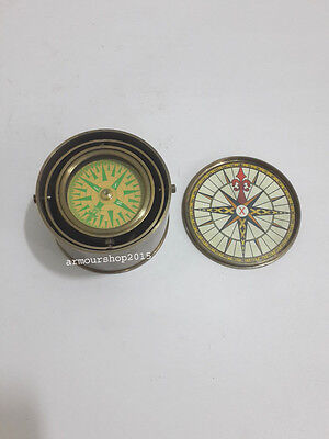 """Vintage Style Brass Antique Drum Compass 2"""" Nautical Compas CHRISTMAS GIFT"""